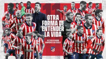 Atlético de Madrid campeón de la Liga española